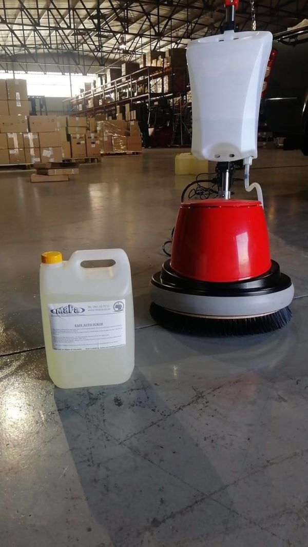 Single Disc Floor Polisher and Chemical
