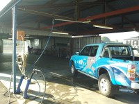 Car Wash System with swingbooms and gun holders