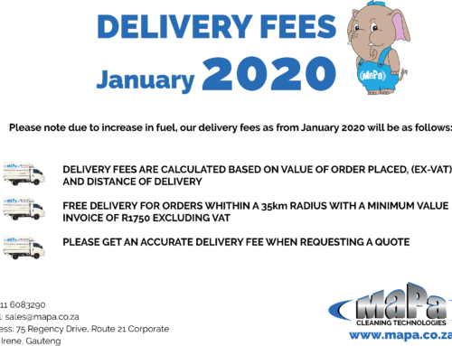 Delivery Fees Increase 1st January 2020
