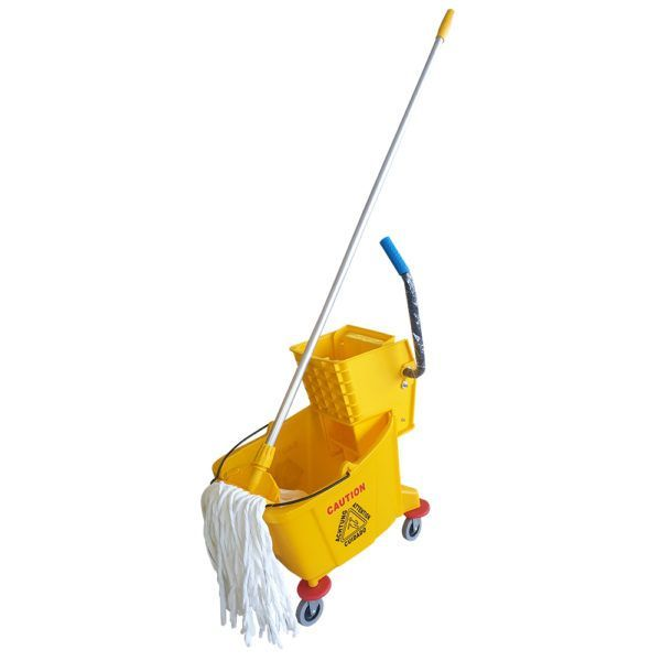 Single Wringer Mopping Bucket and Mop