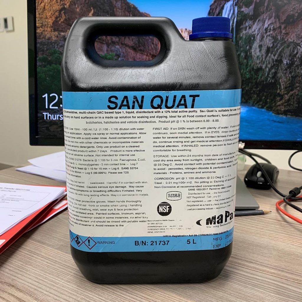 SAN QUAT SABS Approved Disinfectant MaPa Cleaning