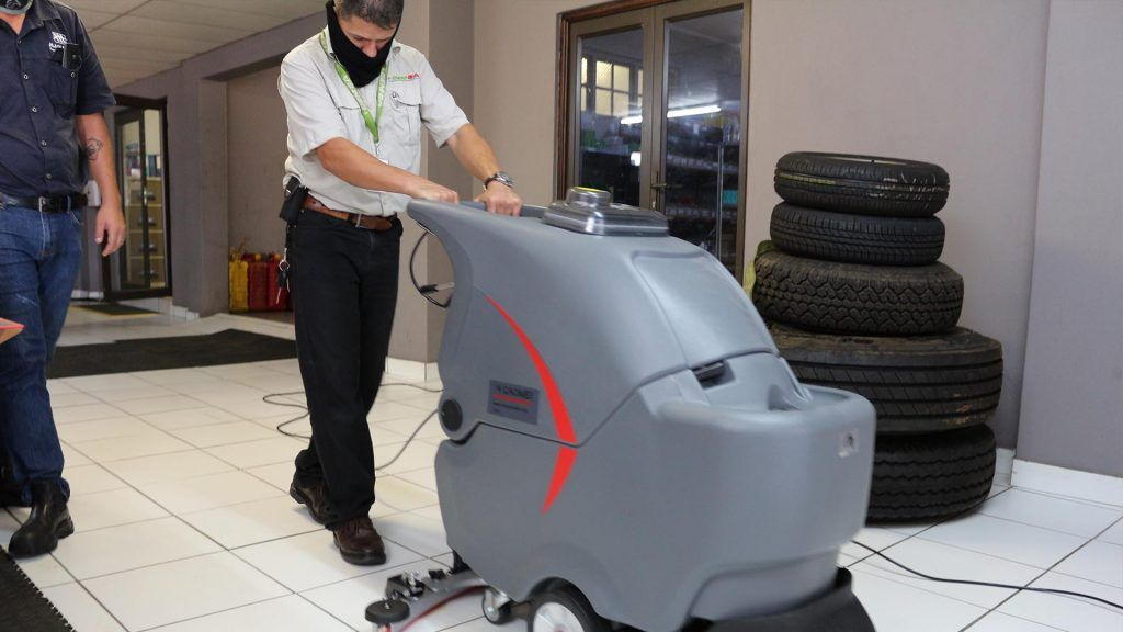 Contract Cleaning Floor Scrubber MaPa Cleaning