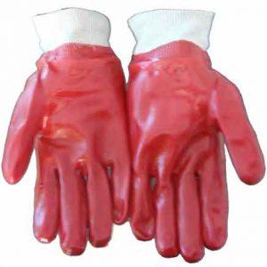 PVC Knit Wrist Standard Red