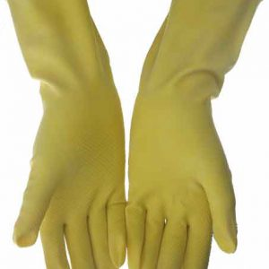 Yellow Household Gloves Large