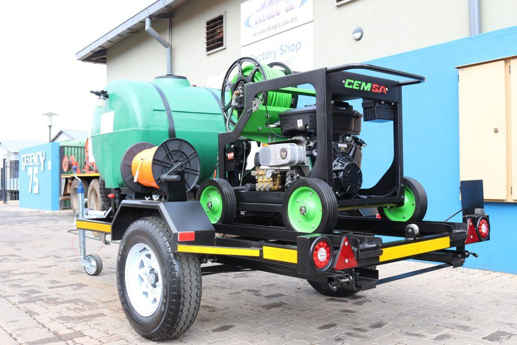 Drain Cleaning Trailer MaPa Cleaning High Pressure