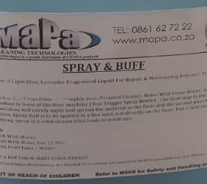Spray and Buff 25Lt