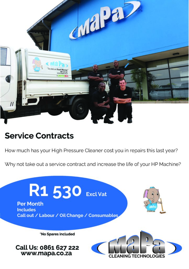 Service contracts for pressure washers